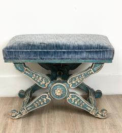 Circa 1970 Vintage Louis XIII Style Stool Italy - 2066783