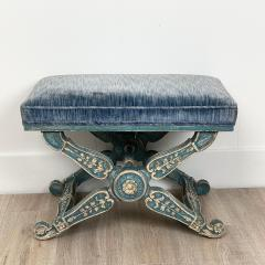 Circa 1970 Vintage Louis XIII Style Stool Italy - 2066784