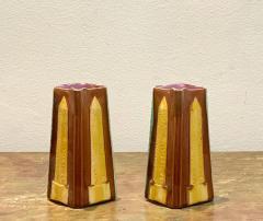 Circa 19th Century Egyptian Obelisks Majolica Pitchers England A Pair - 1963541