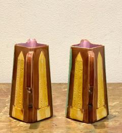 Circa 19th Century Egyptian Obelisks Majolica Pitchers England A Pair - 1963544