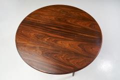 Circular Coffee Table With Slightly Tapered Legs Denmark 1960s - 1658955