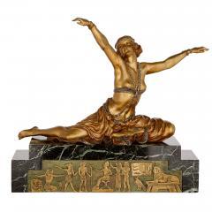 Claire Jeanne Roberte Colinet Art Deco gilt bronze sculpture of the Theban Dancer by CJR Colinet - 1433246