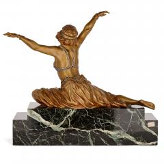 Claire Jeanne Roberte Colinet Art Deco gilt bronze sculpture of the Theban Dancer by CJR Colinet - 1433250