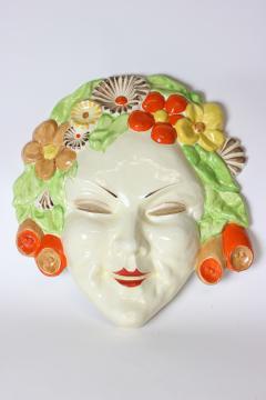 Clarice Cliff Clarice Cliff bizarre Art Deco mask of Flora England - 1244030