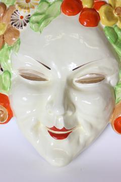 Clarice Cliff Clarice Cliff bizarre Art Deco mask of Flora England - 1244034