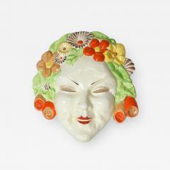 Clarice Cliff Clarice Cliff bizarre Art Deco mask of Flora England - 1245639