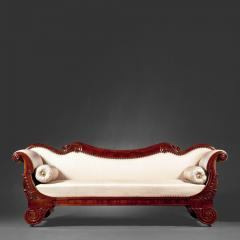 Classical Carved Mahogany Sofa - 55609