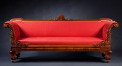 Classical Carved Mahogany Sofa - 1069989