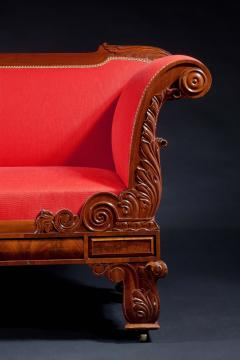 Classical Carved Mahogany Sofa - 1069992