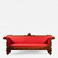 Classical Carved Mahogany Sofa - 1071424