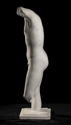Classical White Plaster Cast Nude Sculpture of Apollo After The Antique - 2137097