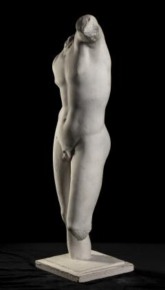 Classical White Plaster Cast Nude Sculpture of Apollo After The Antique - 2137098
