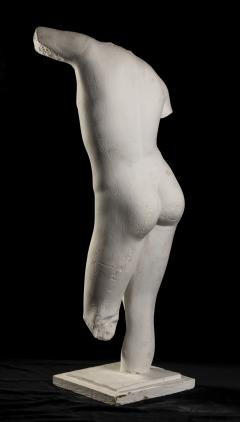 Classical White Plaster Cast Nude Sculpture of Apollo After The Antique - 2137099