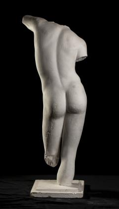 Classical White Plaster Cast Nude Sculpture of Apollo After The Antique - 2137100