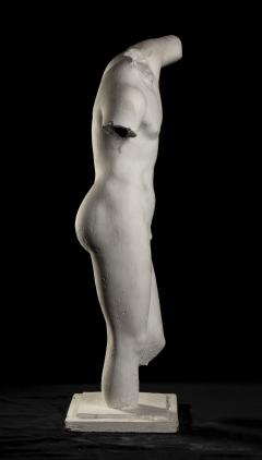 Classical White Plaster Cast Nude Sculpture of Apollo After The Antique - 2137103