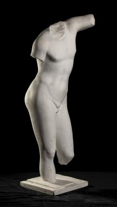 Classical White Plaster Cast Nude Sculpture of Apollo After The Antique - 2137104