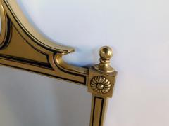 Classically inspired Chippendale Style Brass Mirror with Broken Arch Pediment - 1828514