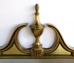 Classically inspired Chippendale Style Brass Mirror with Broken Arch Pediment - 1828516