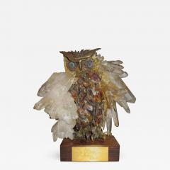 Claude Barbat Brutalist Owl Sculpture Attributed to French Sculptor Claude Barbat - 535219