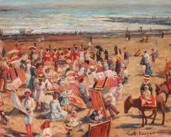 Claude Cahill Cooper French Beach Scene - 1105645