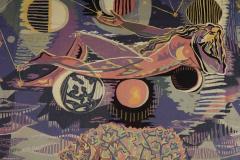 Claude Dodane Modern tapestry designed by Claude Dodane Allegorie du Temps - 953245