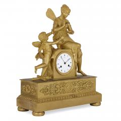 Claude Galle Empire period gilt bronze mantel clock by Galle - 1274484