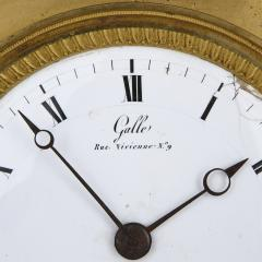 Claude Galle Empire period gilt bronze mantel clock by Galle - 1274486