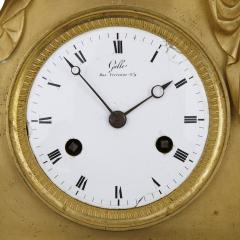 Claude Galle Empire period gilt bronze mantel clock by Galle - 1274488