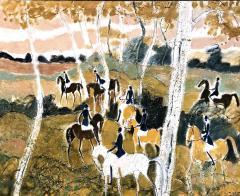 Claude Grosperrin Equestrian Rallies In The Woods - 1186124