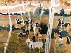 Claude Grosperrin Equestrian Rallies In The Woods - 1186126