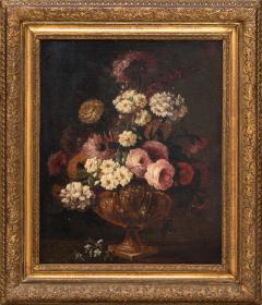 Claude HUILLIOT BUNCH OF FLOWERS IN AN ORNAMENTAL VASE C 1690 - 1271438