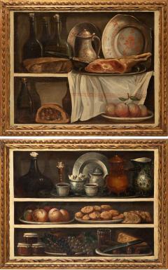 Claude Joseph Fraichot PAIR OF STILL LIFE PAINTINGS OF FOOD DRINK Circa 1750 - 1794053