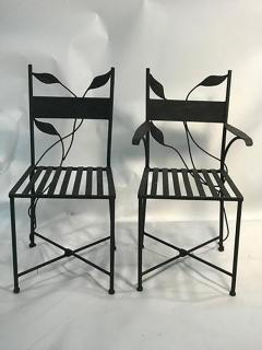 Claude Lalanne Outstanding Set of Outdoor Iron Garden Chairs in the manner of Claude Lalanne - 452527