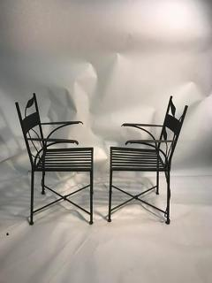 Claude Lalanne Outstanding Set of Outdoor Iron Garden Chairs in the manner of Claude Lalanne - 452529