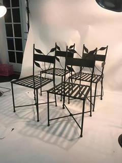 Claude Lalanne Outstanding Set of Outdoor Iron Garden Chairs in the manner of Claude Lalanne - 452530