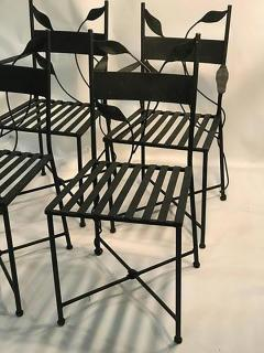 Claude Lalanne Outstanding Set of Outdoor Iron Garden Chairs in the manner of Claude Lalanne - 452531