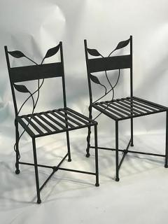 Claude Lalanne Outstanding Set of Outdoor Iron Garden Chairs in the manner of Claude Lalanne - 452533