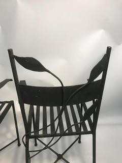 Claude Lalanne Outstanding Set of Outdoor Iron Garden Chairs in the manner of Claude Lalanne - 452534
