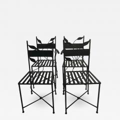 Claude Lalanne Outstanding Set of Outdoor Iron Garden Chairs in the manner of Claude Lalanne - 455898