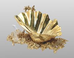 Claude Victor Boeltz Baguier in gilded bronze and rock crystal Claude Victor Boeltz France 1970 - 1642060