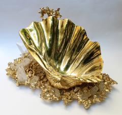 Claude Victor Boeltz Baguier in gilded bronze and rock crystal Claude Victor Boeltz France 1970 - 1642063
