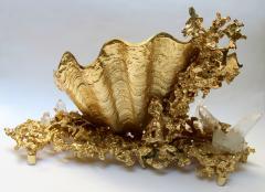 Claude Victor Boeltz Baguier in gilded bronze and rock crystal Claude Victor Boeltz France 1970 - 1642066