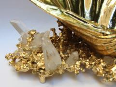 Claude Victor Boeltz Baguier in gilded bronze and rock crystal Claude Victor Boeltz France 1970 - 1642069