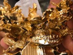 Claude Victor Boeltz Claude Victor Boeltz French Gold Bronze Dish Sculpture - 1308328