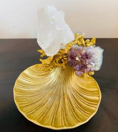 Claude Victor Boeltz Claude Victor Boeltz Golden Crystal French 1970s Table Sculpture - 2037817