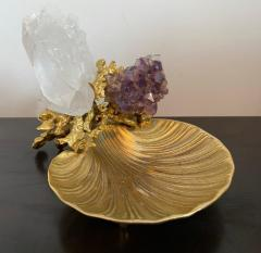 Claude Victor Boeltz Claude Victor Boeltz Golden Crystal French 1970s Table Sculpture - 2037818