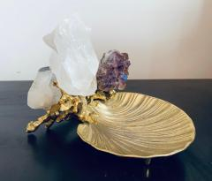 Claude Victor Boeltz Claude Victor Boeltz Golden Crystal French 1970s Table Sculpture - 2037819