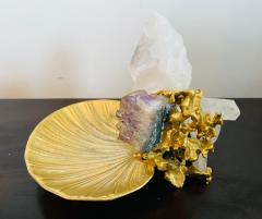 Claude Victor Boeltz Claude Victor Boeltz Golden Crystal French 1970s Table Sculpture - 2037823