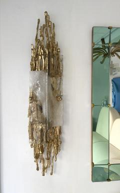 Claude Victor Boeltz Pair of Gilt Bronze Murano Glass Sconces by Claude Victor Boeltz France 1970s - 2127963