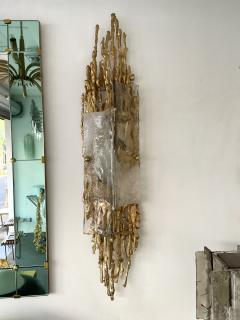 Claude Victor Boeltz Pair of Gilt Bronze Murano Glass Sconces by Claude Victor Boeltz France 1970s - 2127964